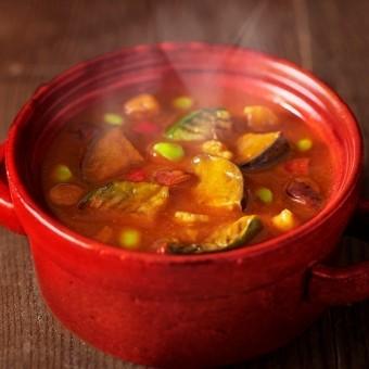 ひきわり豆のトマトカレーイメージ